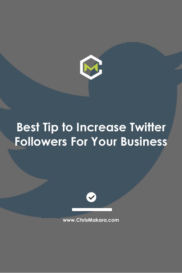 twitter follower increase