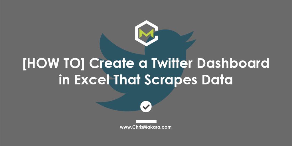 excel twitter data scraper