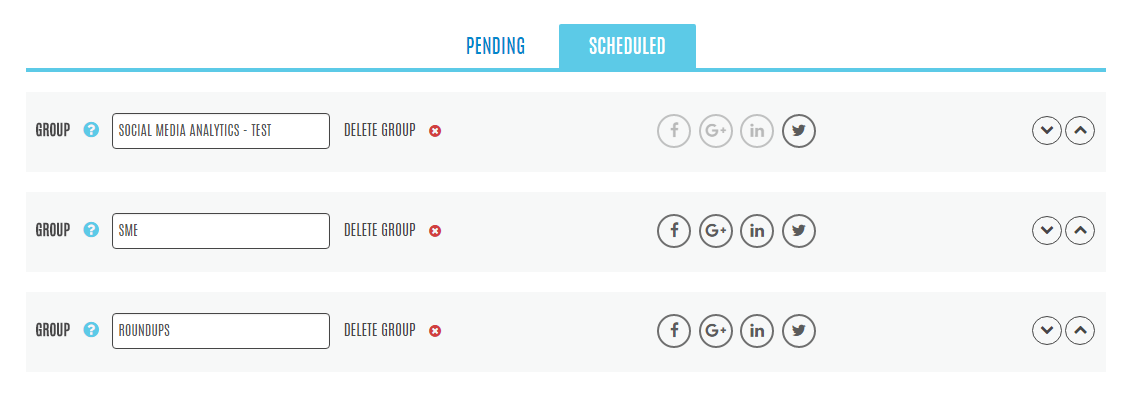Group Social Media Content Scheduling