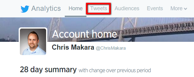 twitter analytics tweets tab