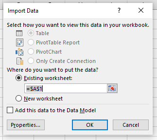 twitter csv import to excel step 3