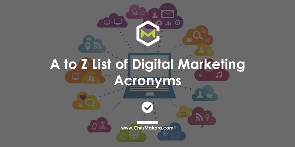 a to z digital marketing acronyms