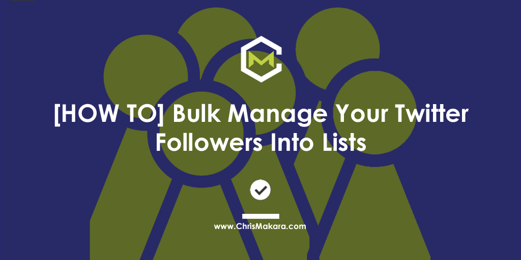 how to manage twitter lists