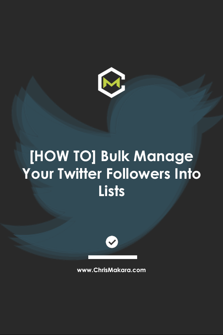 manage twitter lists