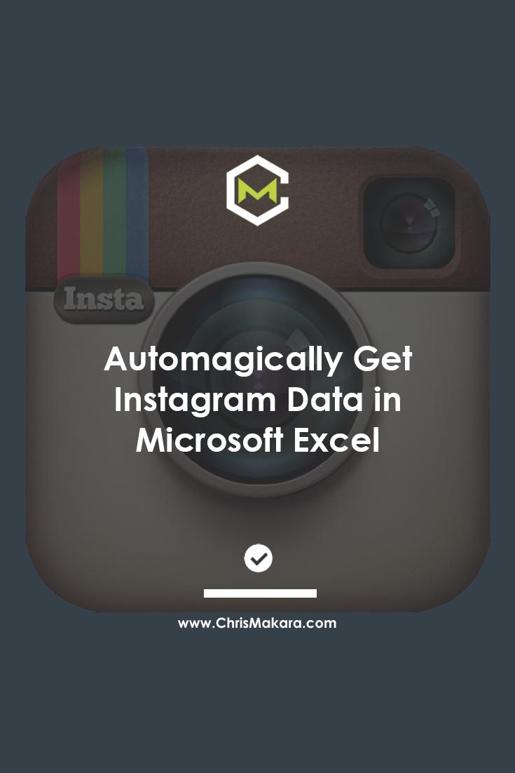 instagram data microsoft excel